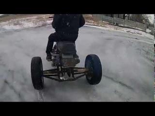 Самодельный трехколёсный мотоцикл(jawa)