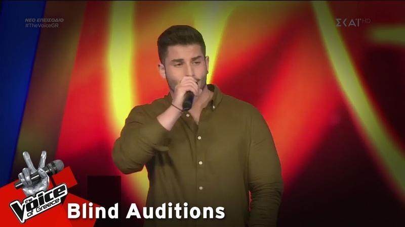 Θάνος Λειβαδίτης Πυροσβεστήρας 12o Blind Audition The Voice of Greece