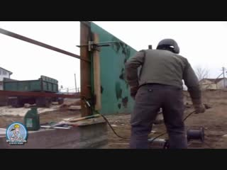 Забор из профнастила каскадом Монтаж профнастила