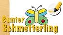Schmetterling zeichnen lernen Der Segelflieger der Wiesen How to draw a Butterfly Cartoon
