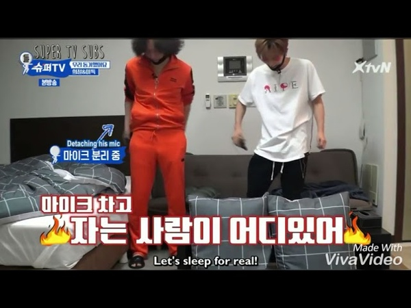 Super TV Lee Donghae and Shindong's invasion to Hee Chul and Leeteuk room No one can sleep