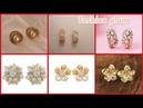 Beautiful gold daimond stud earrings design for women's