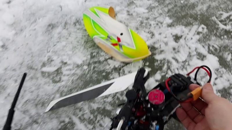 Gaui X3 осмотр на озере после отключения двигателя