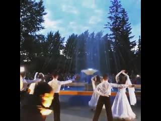 Торжественное открытие фонтана в Парке трубников