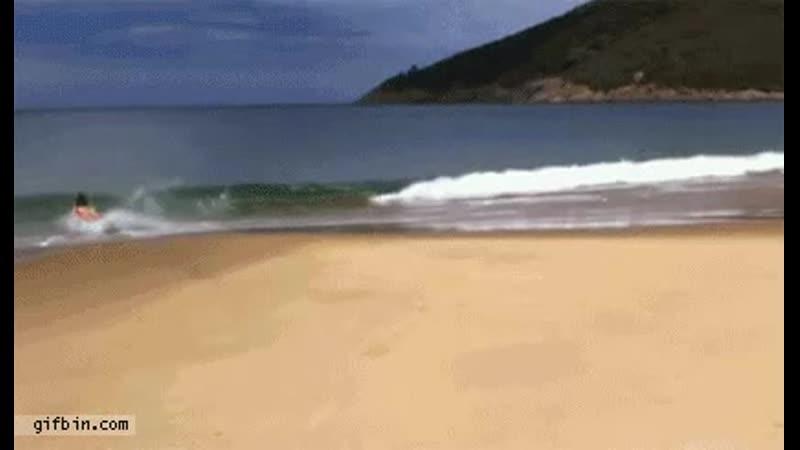 Epic bodyboard beach slide