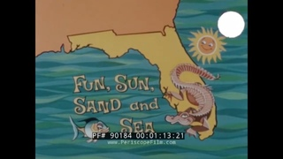 FUN, SUN, SAND AND SEA  ST AUGUSTINE, FLORIDA 1960s TRAVELOGUE  FOUNTAIN OF YOUTH 90184