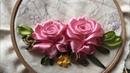 D.I.Y Ribbon Embroidery Roses / Hướng dẫn thêu ruy băng hoa hồng