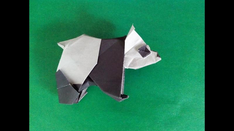 Панда оригами panda origami Fumiaki Kawahata