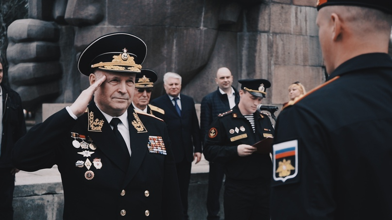 Кинокомпания «Союз Маринс Групп» на репетиции парадного полка морской пехоты Балтийского флота в Коломне