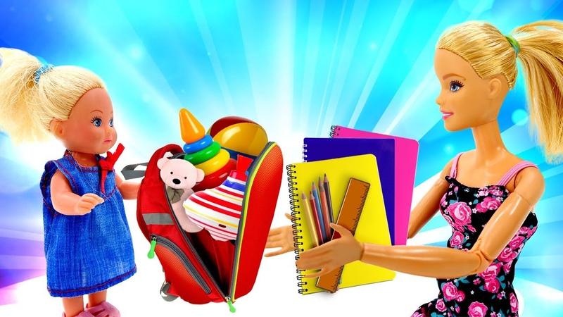 Escolhendo o material escolar com a Barbie Brincadeira educativa em português