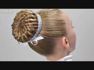 New years eve hair style✨perfect braided bun with hair donut✨amazing easy hairstyles for girls#19