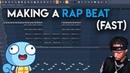 Making a Rap Beat (fast)┃FL STUDIO