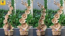 DIY Flower and Flower vase Decoration Idea with Jute Rope Home Decor Jute Flower Showpiece