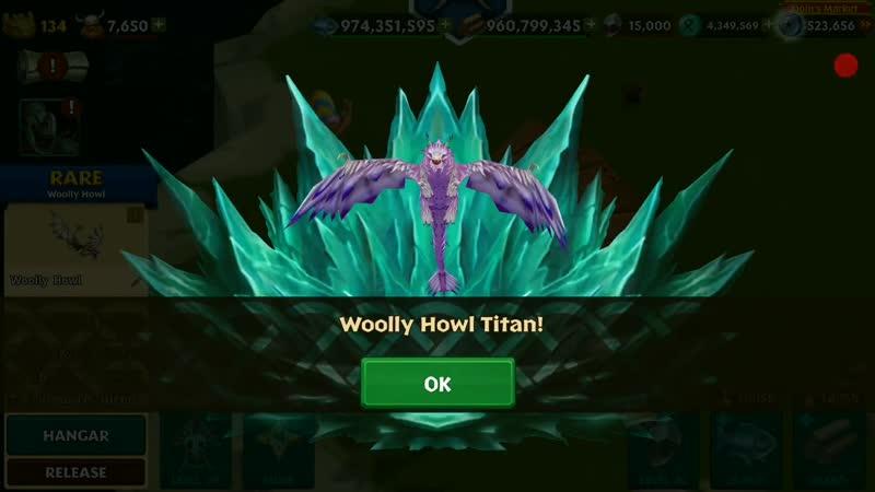 Woolly Howl Max Level 134 Titan Mode Dragons Rise of Berk isJ6RrVYlDM