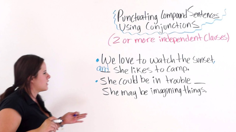 English Punctuation Punctuating Compound Sentences With Conjunctions