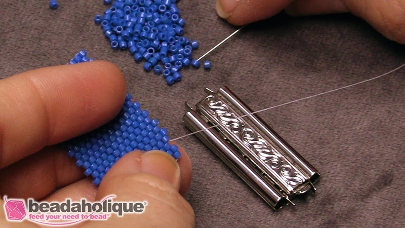 How to Use a Slide Clasp to Finish Peyote Bead Weaving