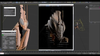 Lighting and rendering Ghost mantis model with V-Ray for 3Ds Max