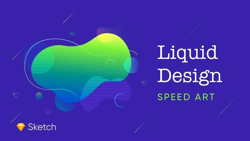 Liquid Illustration - Speed art | Sketch app