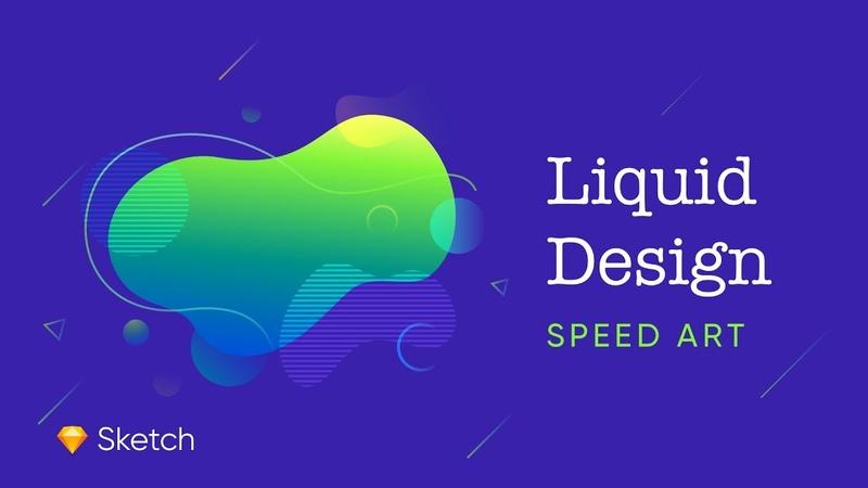 Liquid Illustration - Speed art | Sketch app
