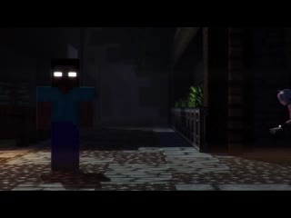 SFM herobrine stares at the screen for 20 seconds but then it transitions to a