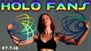 Fire Fan Practice Holographic Fans Fan Spinning Newbie Day 1 Russian Grip Adieu Tchami
