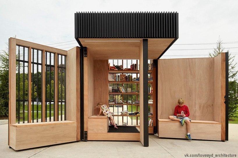 atelier kastelic buffey устанавливают миниатюрную библиотеку в пригороде Торонто