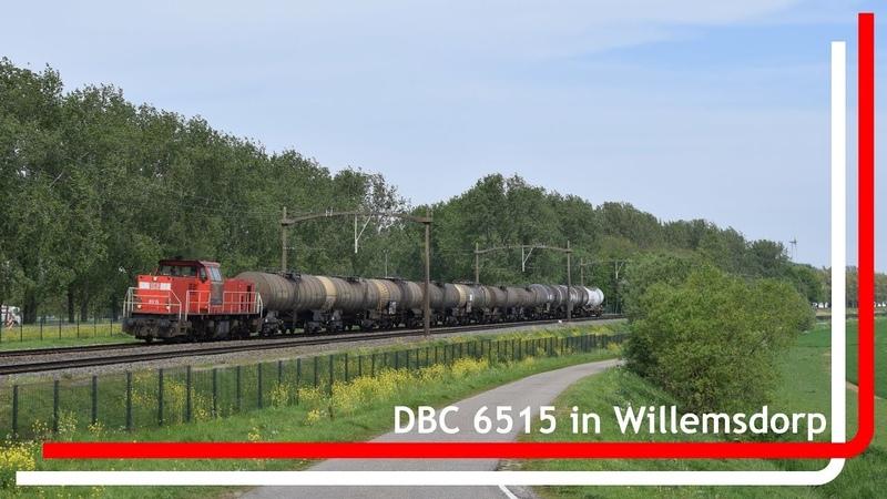 DBC 6515 komt met korte keteltrein door Willemsdorp