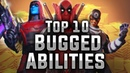 Top 10 Bugged Abilities (Sponsored by ClanHQ!) - MARVEL Strike Force - MSF
