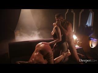 Мужик трахает рыжую гадалку и сочную бабу, ЖМЖ milf mom redhead mature sex porn milk tit boob ass fuck hard love (Hot&Horny)