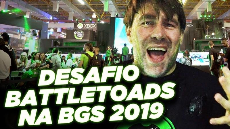 Desafio Battletoads Banho de Slime na BGS 2019