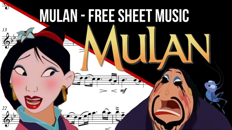 [FREE SHEET MUSIC FLUTE - Reflection from Mulan]