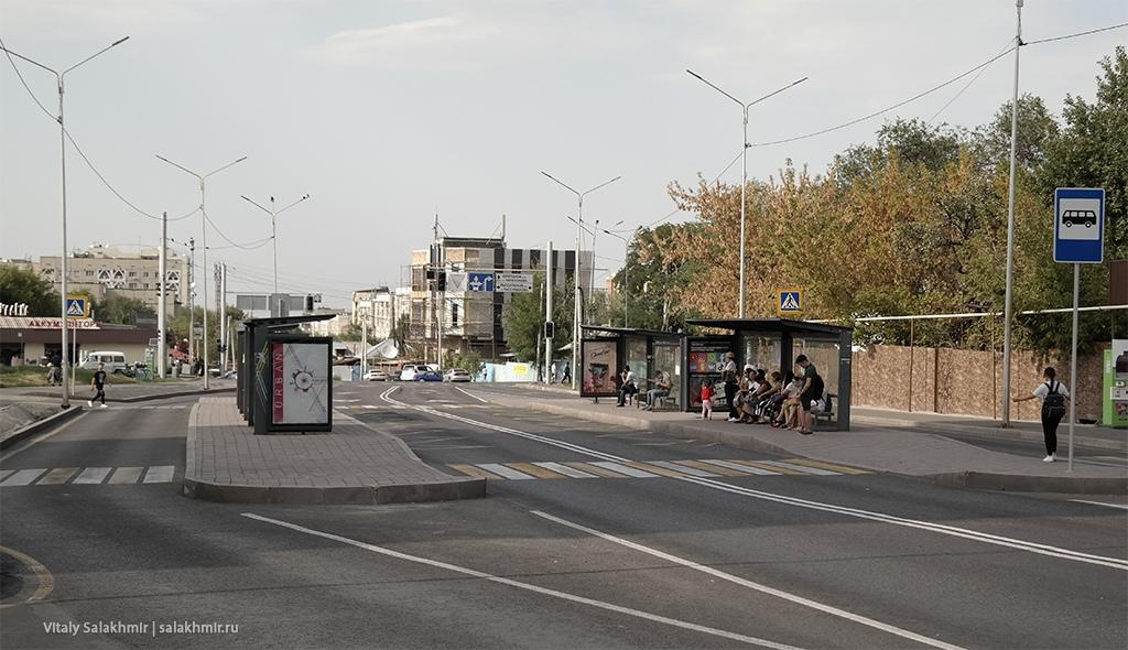 Остановка на Мустафина-Рыскулбекова, Алматы 2019