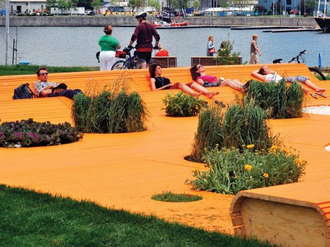 Garden project conceived for the Festival Ephemeral Gardens in Quebec City by spmb
