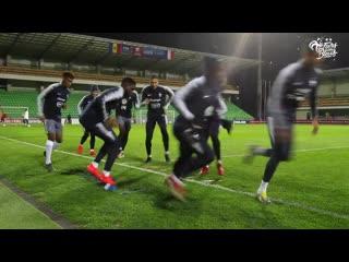 Veille de match à chisinau pour les bleus, equipe de france i fff 2019