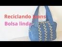 RECICLANDO JEANS- BOLSA LINDA E FACIL.