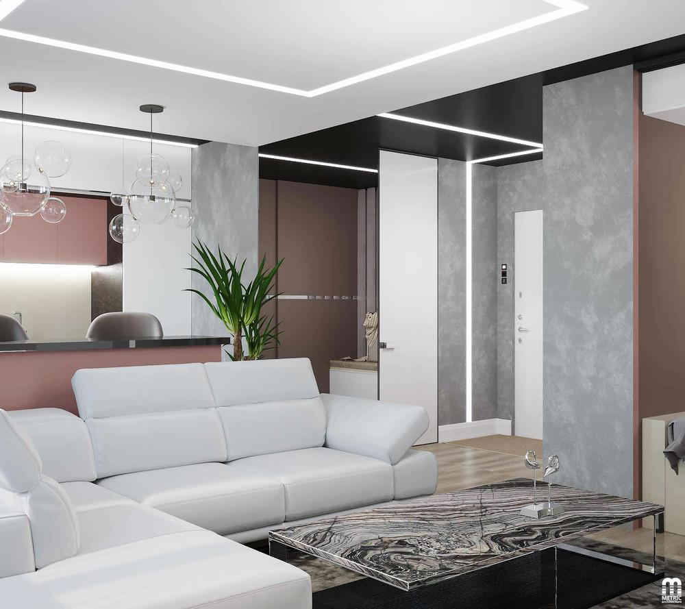 Проект квартиры почти 30 м для молодой семьи.