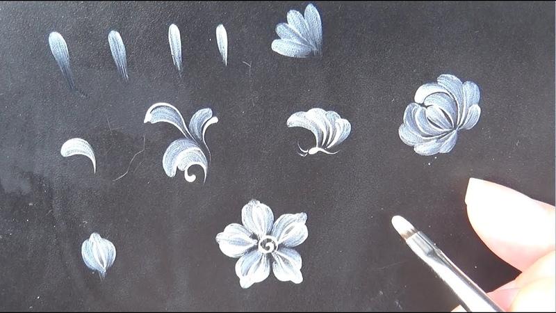 Hướng dẫn Vẽ CỌ BẢN TRÒN hoa cúc từ A đến Z