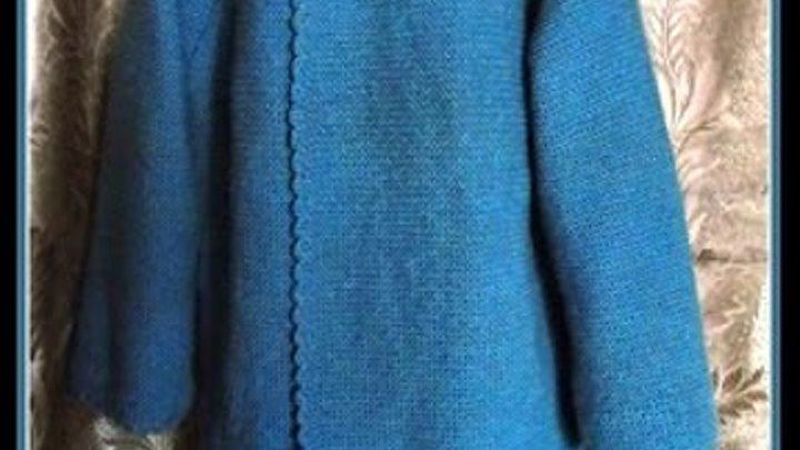 Простой жакет спицами. Jacket knitting