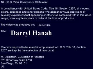 Diary Of A Milf - Darryl Hanah