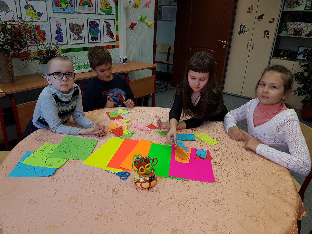 Дети из Некрасовки изготовили бумажные фигурки