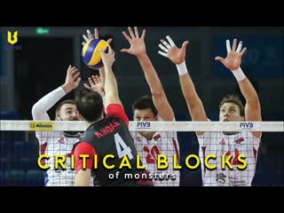 MONSTERS GET BLOCK POINTS Amazing Volleyball