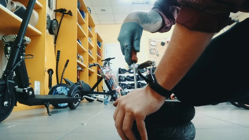 Ремонт Электросамоката kugoo s3 замена резины на мотор колесе как снять резину