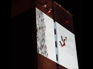 Танцы на стене в Перми. Фестиваль уличных театров. Пермь. 10 августа
