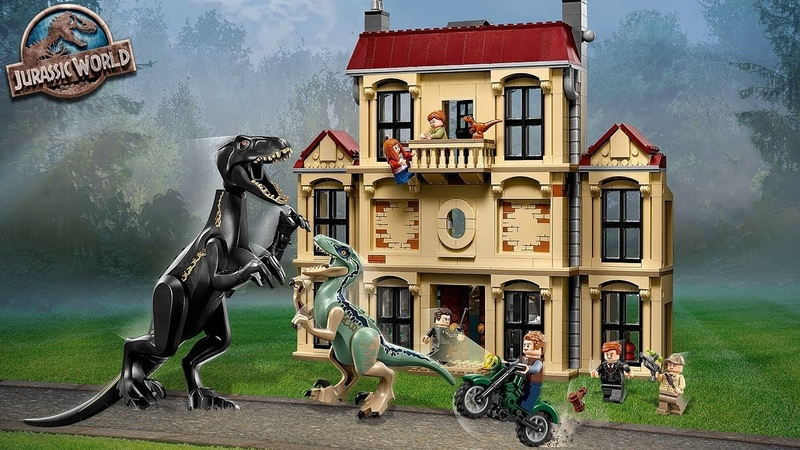 LEGO Мир Юрского периода 2.Нападение Индораптора в поместье Локвуд.Лего набор 75930.Lego