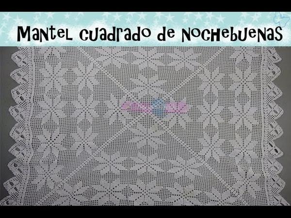 RESPUESTAS Y CONTINUACIÓN PARA MANTEL CUADRADO DE NOCHEBUENAS. | Labores Angélika |