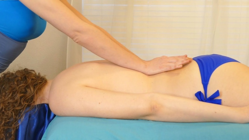 Relaxing Yin Back Massage for Stress Pain Relief, Massage with Melissa