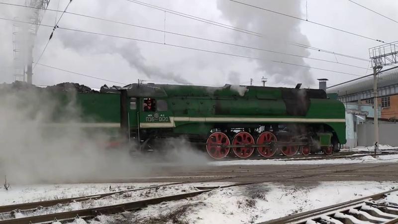 Паровоз П36-0110-0120, Вологда, депо, 28.12.2019