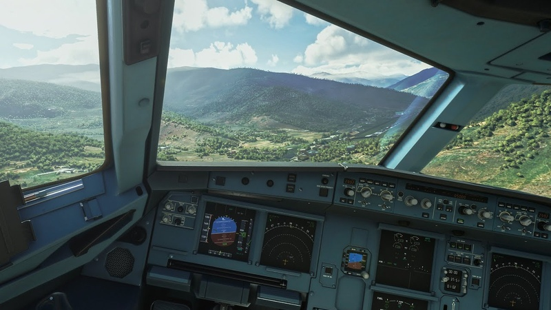 Flight Simulator 2020 World's Most Dangerous Landing Paro in an A320 4K HDR PREVIEW BUILD