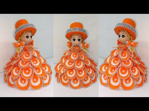 171) Ide Kreatif - how to decorate dolls using flannel || hias boneka || Doll decoration