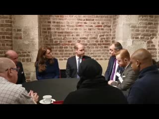 The duke and duchess of cambridge met victims of disasters